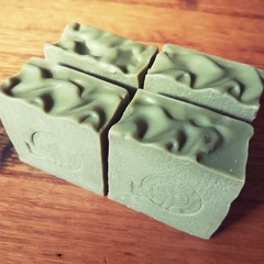 Natural handmade soap - Spirulina, Chamomile & Goat's Milk (Palm oil free)