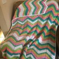 Unicorn Tones Chevron Blanket