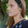 """Native American-Style Dangle Drop Long Beaded Earrings - """"Fertility Antlers"""""""