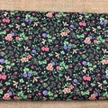 Fabric -flowers and bees - 100% cotton