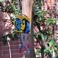 Necklace - Moasic Mary statement pop art necklace / decor.