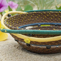 PERSONALISED Handwoven Pine Needle Spiritual Healing Basket (Large Sculptural)