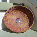 PERSONALISED Handwoven Pine Needle Spiritual Healing Basket  (Small Simple)