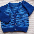 SIZE 3-4 yrs - cardigan,  acrylic, washable, warm