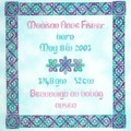 Celtic Birth Sampler by JoAnne Mason for D-D Designs