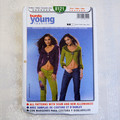 Burda 8121 sewing pattern, Young fashion, knit vest pattern, Sizes 8 -20