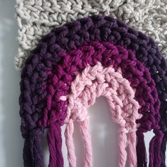 Rainbow Crochet Wall Hanging