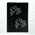 Hand screen printed 'Bubbleweed' 100% linen tea towel