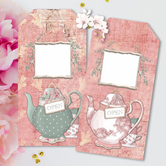 French Ephemera Time for Tea Gift Tags