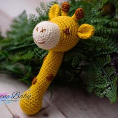 Handmade Crochet Giraffe Baby Gift Baby Shower Gift Baby Rattle