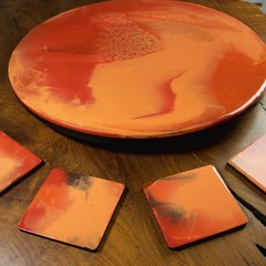The Red Planet - Lazy Susan [coasters not included]