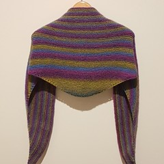 Maleficent triangle shawl