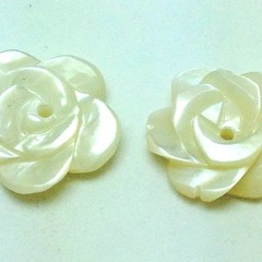 Mother of Pearl Rose Buttons or Beads