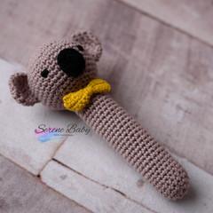 Handmade Crochet Koala Baby Gift Baby Shower Gift Baby Rattle
