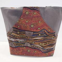 Dark grey kangaroo pocket tote bag