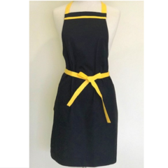 Black and Yellow trim Womens Kitchen Apron FREE Post!