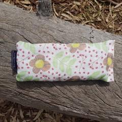 Organic Linen Floral Eye Pillow