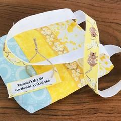 Girls /Kids Tote Bag Yellow, White and Aqua