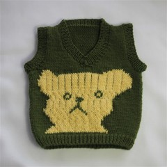 Baby Vest with Bear Face Design