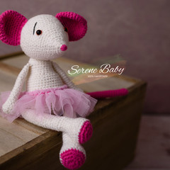 Handmade Crochet Cotton Mouse Baby Gift Baby Shower Gift