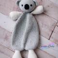 Handmade Crochet Cotton Grey Koala Comforter Baby Gift Baby Shower Gift Australi