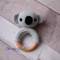 Crochet Light Grey Koala Cotton Teether Baby Gift Baby Shower Gift Beecwood