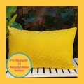 Yellow Textured Pillow Cover