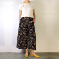 Wildflower Cropped Wide Leg Corduroy Pants with Pockets, Flat Front and Elastic