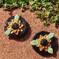 Handmade Earrings - Sunflower Earrings
