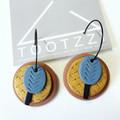 TEXTURE Hoops (Terracotta + Copper + Powder Blue) Stackable Statement Dangles