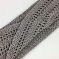 Crochet Twisted Infinity Scarf   Wool & Bamboo   Hand Crocheted   Natural   Gift