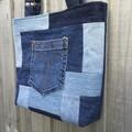 Upcycled Denim Tote Bag