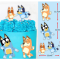 Bluey Dance Edible Icing Cake Topper Set PRE CUT