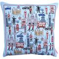 London England UK Linen Cushion