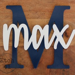 Personalised Painted Name Letter Plaque