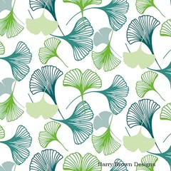 2 Paper Napkins / Serviettes for Decoupage / Parties / Weddings - Gingko Green