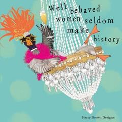 2 Paper Napkins / Serviettes for Decoupage / Parties / Weddings - Behaved Women