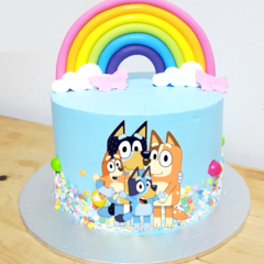 Bluey Family Edible Icing Cake Topper Set PRE CUT