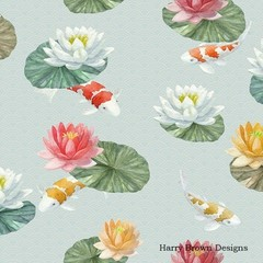 2 Paper Napkins / Serviettes for Decoupage / Parties / Weddings - Koi Carp