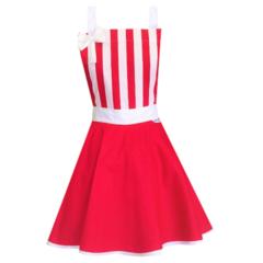 Red & White Stripe Vintage Style Womens Apron FREE POST!