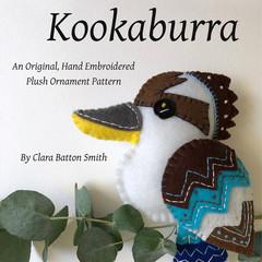 KOOKABURRA ~ a PDF pattern for a hand embroidered felt plush ornament Instant Do