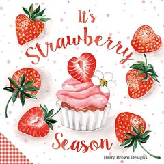 2 Paper Napkins / Serviettes for Decoupage / Parties / Weddings - Strawberries