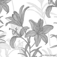 2 Paper Napkins / Serviettes for Decoupage / Parties / Weddings - Lillies
