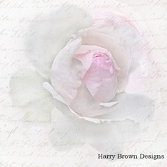 2 Paper Napkins for Decoupage / Parties / Weddings - Pink Rose Letter