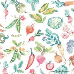 2 Paper Napkins / Serviettes for Decoupage / Parties / Weddings - Vegetables