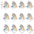 12x Bluey Hugs Edible Wafer Cupcake Toppers