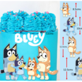 Bluey Family and logo Edible Icing Cake Topper Set Decals Images PRE CUT #763