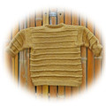 Jumper/pullover, hand knit, wool and bamboo, size 0