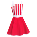 Red & White Stripe Vintage Style Womens Apron FREE POST!