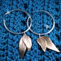 Duo Leaf Hoop Earrings